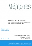 Ground state energy of the magnetic Laplacian on corner domains